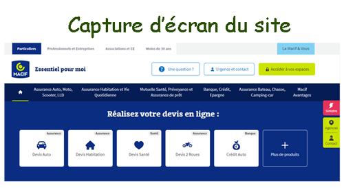 Se connecter sur www.macif.fr espace personnel