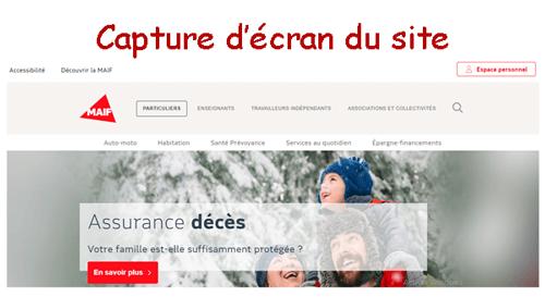 Accéder à www.maif.fr espace personnel