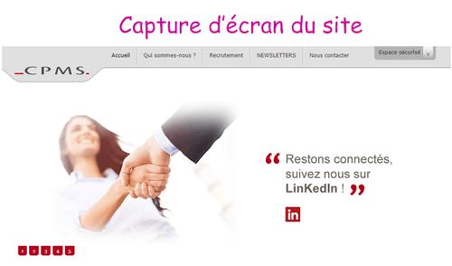 Accéder à www.cpms.fr espace adhérent