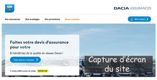 Accéder à www.dacia-assurances.fr