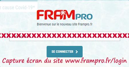 Se connecter à mon compte personnel Frampro.fr