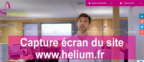 Accéder à mon compte helium gestion santé