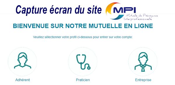 Se connecter à l'espace client MPI Mutuelle en ligne
