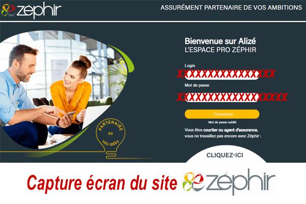 Accéder à mon compte pro Zephiralise en ligne