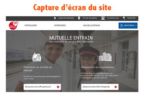 Se rendre sur le site www.mutuelle-entrain.fr
