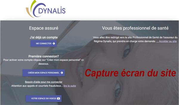 connexion à mon compte assuré sur le site Dynalis.fr