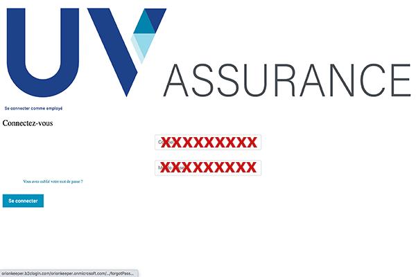Accès au compte UV assurance