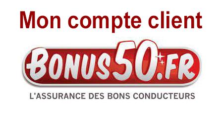 Mon espace client sur le site Internet Bonus50.fr.