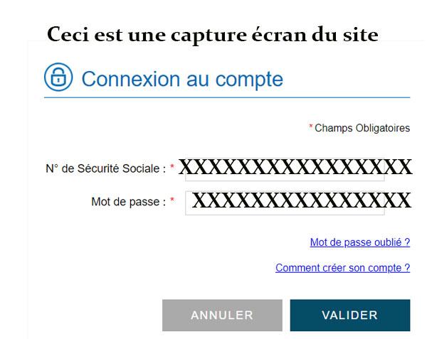 CSS assurance connexion